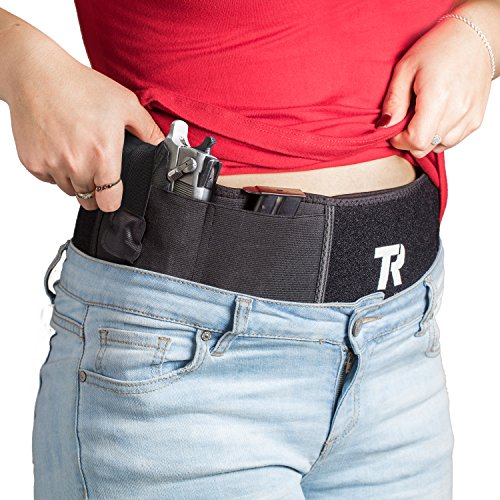 Belly-Band-Gun-Holster-for-Concealed-Carry-Neoprene-With-Comfortable-Cotton-Lining-elastic-Flip-Release-Strap-Fits-Up-to-44-Inch-Waist-for-Men-Women