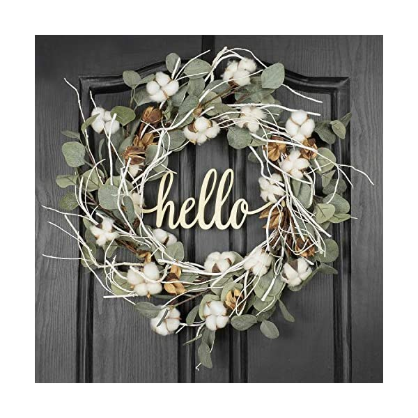 Nuxn 15.7 inch Artificial Fall Wreath with Red Berry Green Leaves Christmas Pinecone/& Pip Berry Wreath Farmhouse Winter Wreath Decorations for Front Door