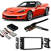 Fits Chevy Corvette 2005-2013 Double DIN Harness Radio Install Dash Kit