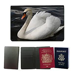 Hot Style PU Leather Travel Passport Wallet Case Cover // M00115793 Swan Fowl Water Bird Lake Beautiful // Universal passport leather cover