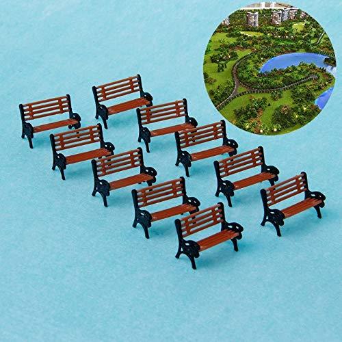 10pcs 1:100 Street Seats Bench Chair Model Train Platform Layout Settee HO Scale