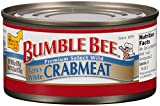 BUMBLE BEE Crab Meat, Fancy White, 6 Ounce Cans, Sardines in Olive Oil, High Protein Food and Groceries, Keto Food, Gluten Free, High Protein Snacks