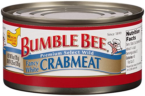 BUMBLE BEE Crab Meat, Fancy White, 6 Ounce Cans, Sardines in Olive Oil, High Protein Food and Groceries, Keto Food, Gluten Free, High Protein Snacks ()