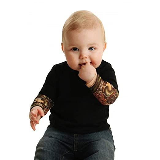 0f62d0a82168 Amazon.com  CSSD Infant  Baby Boys  Cool  Long Sleeve   Tattoo Print ...