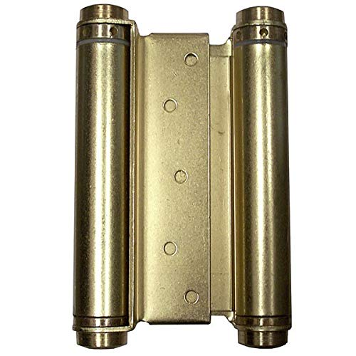 - Bommer 3029-6-633 6in Double Acting Spring Hinge-Mortise Type-Steel Base-Satin Brass Plated