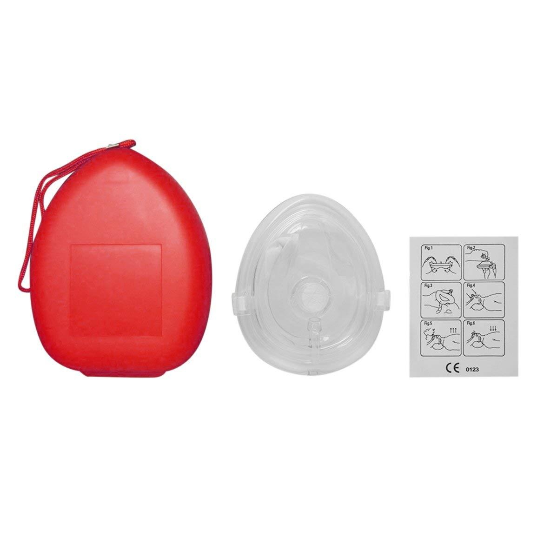 Masque de Protection faciale professionnel pour RCP Avec Valve à sens Unique pour Kit de Formation à la Formation aux premiers secours, équipement médical de sauvetage, Mas