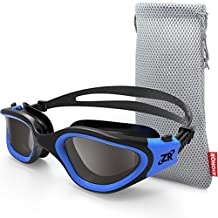 Swimming Goggles, ZIONOR G1 Polarized Swim Goggles with Mirror/Smoke Lens UV Protection Watertight Anti-Fog Adjustable Strap Comfort fit for Unisex Adult Men and Women, Teenagers