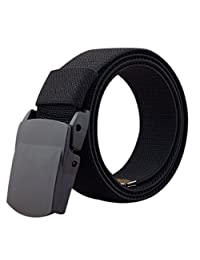 ITIEZY Elastic Belt, Military Tactical Men Belt Stretch Web Belt Plastic Buckle