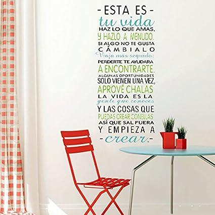 Vinilo Pared Esta es tu vida Vinilos decorativos de frases vinilo