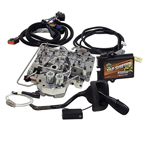 BD Diesel 1031382 Tap Shifter Kit Incl. New Model Shift Lever Control Module Exchange Valve Body Gear Selection Display Wiring Harness Tap Shifter Kit