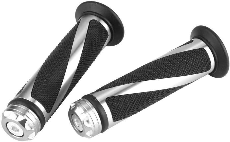 argent Gorgeri 1 paire en caoutchouc daluminium 22mm poign/ée de guidon de moto poign/ées de guidon /épaisses pour moto