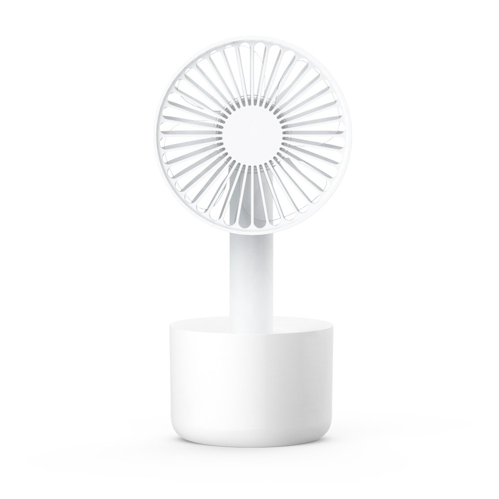 AmuseNd Mini Portable Fan, Hand-held USB Rechargeable Cooling Desktop Table Fan for Home Office Outdoor Travel