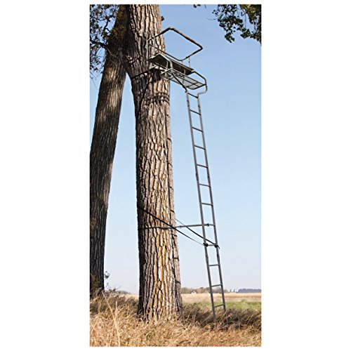 Sniper Deluxe 2-man Ladder Tree Stand 18' - Ladder Stand