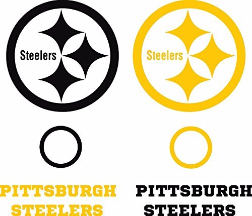 Steelers Cornhole Game Board Decal Set - 6 Cornhole Decals Free Circles