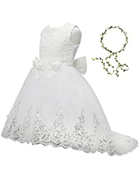 21KIDS Elegant Long Sleeve Wedding Party Princess Gown Pageant Girl Long Dress