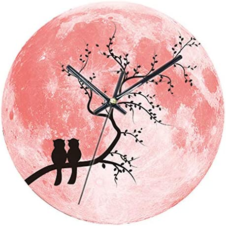 Glowing Moon Luminous Moonlight Baby Playroom Office Akaha Wall Clock 30cm Green Home Glow In The Dark Clock Décor For Kids Living Room Greatdane J Home Décor Home Kitchen