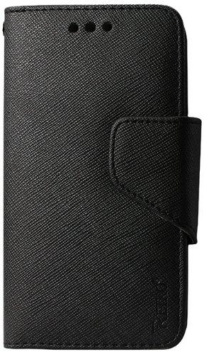 Reiko 3-In-1 Wallet Case for Motorola Droid Mini XT1030 - Retail Packaging - Black (Mini Motorola Droid Phone Case)