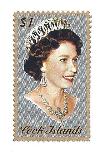 Cook Islands Postage Stamp Single 1973 $1. Queen Elizabeth II Pictorial Issue Scott # (Cook Islands Stamps)