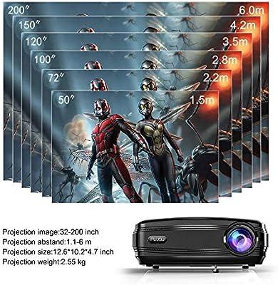 Vídeo proyector, Cine en casa proyector Office presentaciones ...