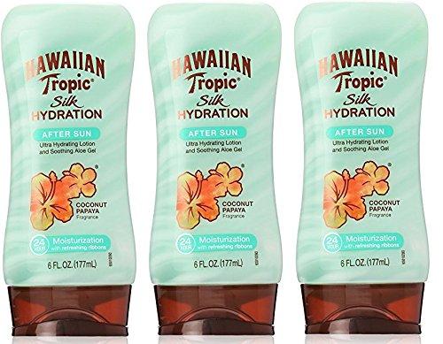 Hawaiian Tropic Silk Hydration Moisturizing Sun Care After Sun Lotion - Coconut Papaya, 6 Ounce (Pack of ()