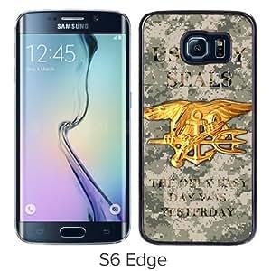 United States Navy Seals Black Fantastic Unique Cusstomized Samsung Galaxy S6 Edge Case