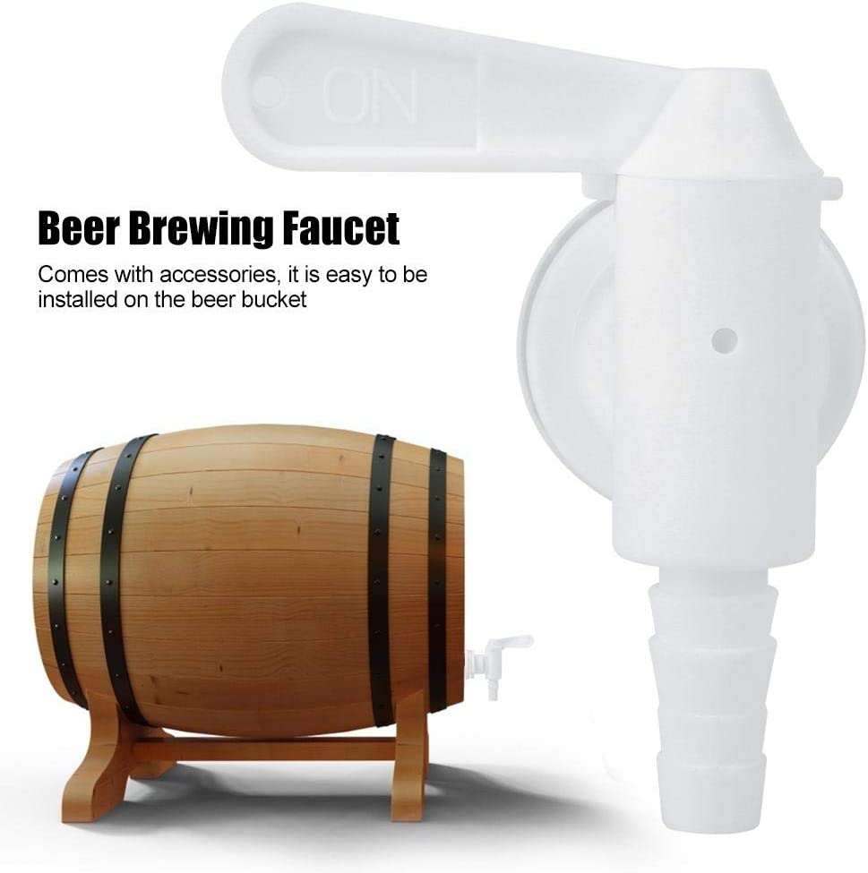 Beer Tap Kitchen 3Pcs Plastic Beer Brew Bucket Tap with Accessories for Draft Beer Homebrew
