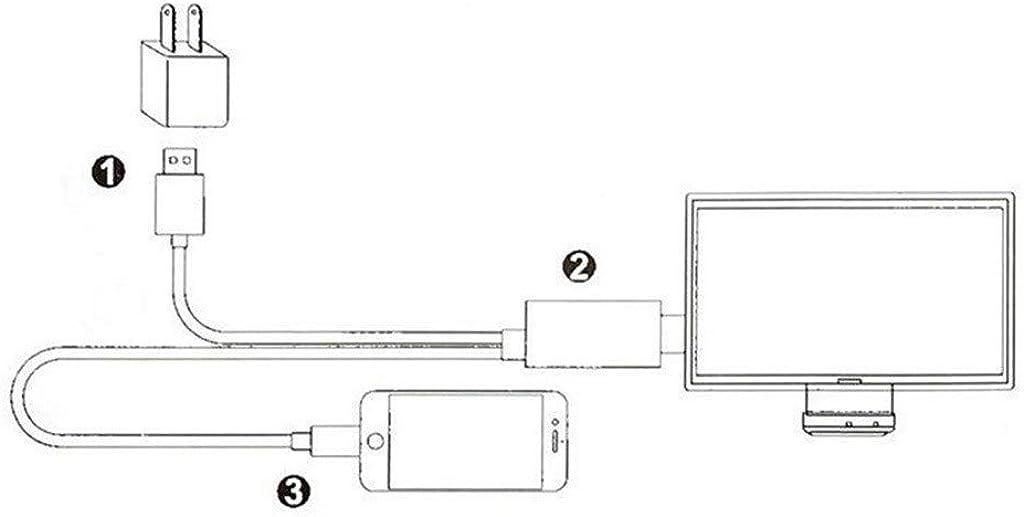Rape Flower - Adaptador USB C Tipo C a HDMI 4K HDTV TV Digital AV Compatible con Samsung Note 10/Plus Talla única: Amazon.es: Ropa y accesorios
