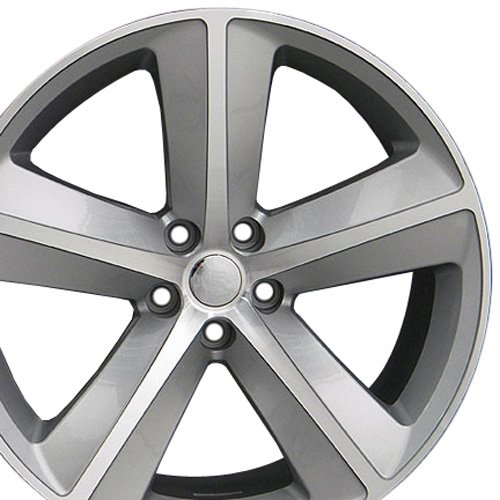 (Partsynergy Replacement For Aluminum Alloy Wheel Rim 20 Inch Fits 2007-2010 Dodge Challenger SRT8 5-115mm 5 Spokes Silver Machined 20x9)