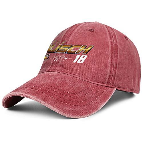 NIANLJHDe Unisex WomensDurable Dad Hat Sanpback Kyle-Busch-#18-2019-NASCAR-Cup-Series-Driver- Walking Baseball Hat