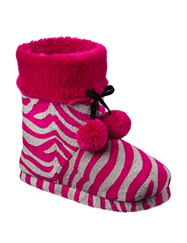 Pantofole Da Donna In Pile Con Couture In Pj Couture Con Zeppa Color Rosa Caldo