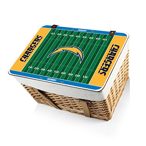 NFL Los Angeles Chargers Canasta Grande Willow Picnic Basket by PICNIC TIME