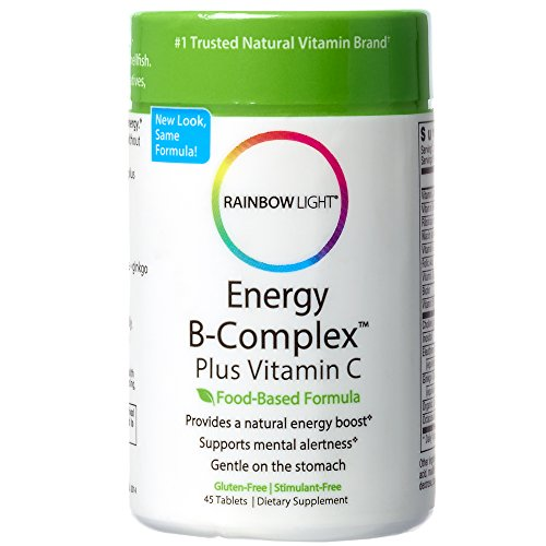 Rainbow Light - Energy B-Complex Plus Vitamin C, High-Potency Support for Natural Energy Production and Mental Clarity with B Vitamins, Choline and Eleuthero, Gluten-Free, Stimulant-Free, 45 Tablets (Light Rainbow Plus)