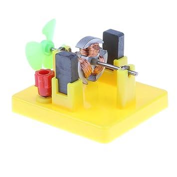 F Fityle Kids Diy Mini Motor Model W Fan Toy Physics Electrical