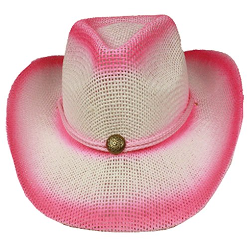 Silver Fever Fashionable Ombre Woven Straw Cowboy Hat
