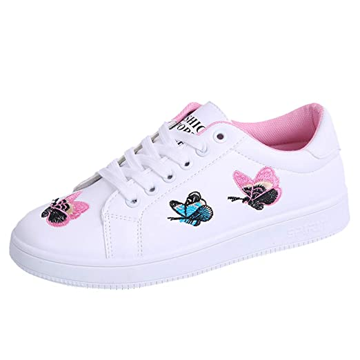 b968787900ba0 Amazon.com: Geetobby Women's Butterfly Embroidered Sneakers ...