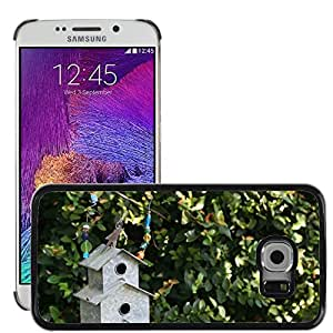 Hot Style Cell Phone PC Hard Case Cover // M00170817 Bird House Bird House Nature Garden // Samsung Galaxy S6 EDGE (Not Fits S6)