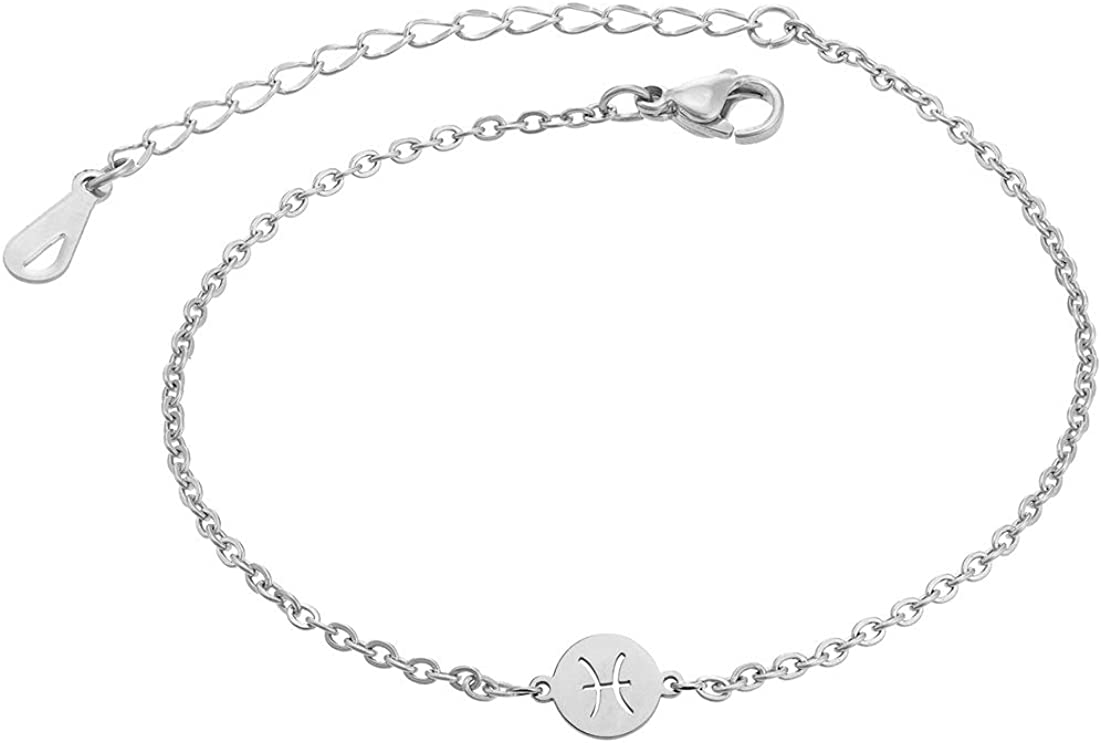Augonfever Zodiac Anklets Astrology Gifts for Women Girls