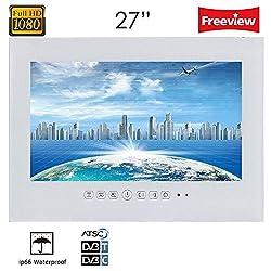 "Soulaca 27"" Frameless White Waterpoof Ip66 Tv T270fn-w"