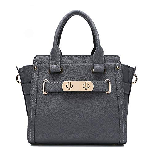 Femme Main Pour En à Sac En Platine Messenger Cuir Grey Bag Sac Cuir Litchi XxTwZq