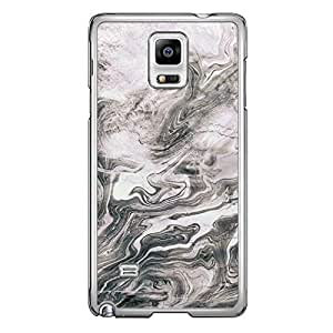 Loud Universe Samsung Galaxy Note 4 Madala N Marble A Random 2 Printed Transparent Edge Case - Silver