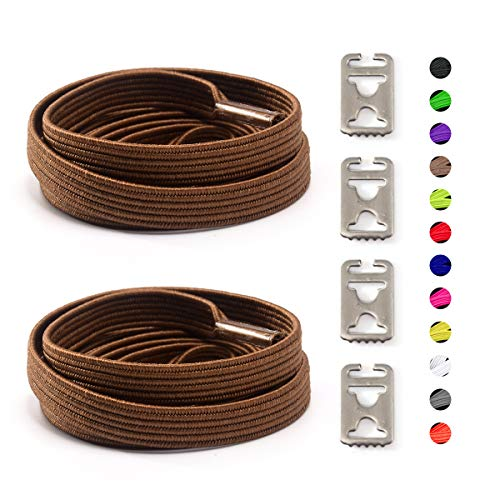Elastic No Tie Shoelaces For Kids and Adults sport running Lazy Shoelace For Sneakers Stainless Steel Buckle System For Laces