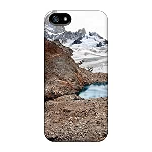 Tough Iphone YBB13838TYXe Cases Covers/ Cases For Iphone 5/5s(scenic Snowy Mountain Lake)