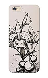 111248f6590 Cover Case - Lilies Protective Case Compatibel With Iphone 6 Plus
