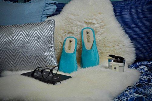 De RBJ Mujer para De Gamuza no Dentro por 39 Casa Azul Lana Zapatillas Lana con pTxqXwrpI