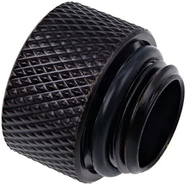 Alphacool 17254 Eiszapfen Extension G1/4 Outer Thread to G1/4 Inner Thread - deep Black Water Cooling Fittings