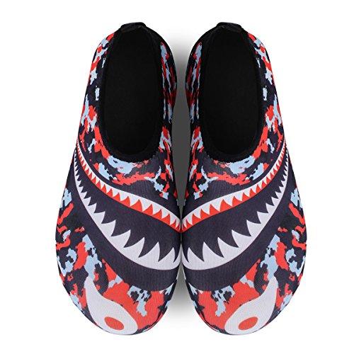 Lightweight Aqua Swim Water Shoes Shark Shoes Yoga Mens Barefoot Red for Womens FEETCITY Beach wBg0xqnpI0