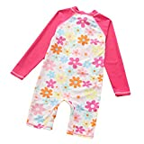 Baby Girls Kids One Piece Cute Flower Swimsuit Rash