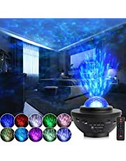 Bercol Star Projector, Starry Galaxy Night Light Projector for Bedroom, Ocean Wave Star Night Light Projector with Bluetooth Music Speaker & Voice Control 10 Color Sky Light Projector for Kids Adults