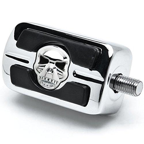 NEW Chrome Skull Skeleton Shifter Shift Peg Cover For 1987-2015 Harley Davidson Street Bob//Fat Bob