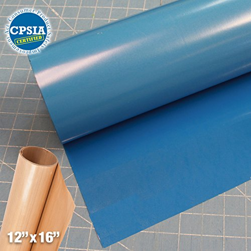 Siser Easyweed Sky Blue Heat Transfer Craft Vinyl Roll (150ft x 15'' Bulk w/ Teflon roll) by Siser